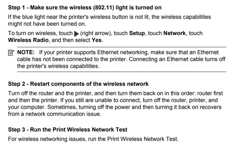 Printer not connecting to network wifi anymore - HP Support