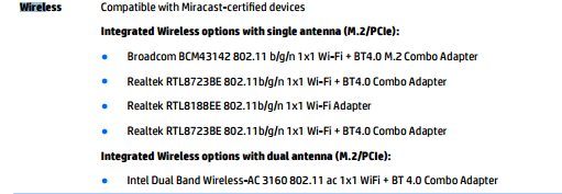 Solved: Intel Dual Band Wireless-AC 3160NGW Bluetooth 4 0 Wifi on Pa