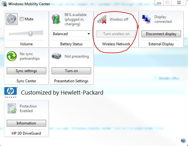 Wireless capability is turned off and cannot turn it on, on ... - Page 2 - HP Support Community ...