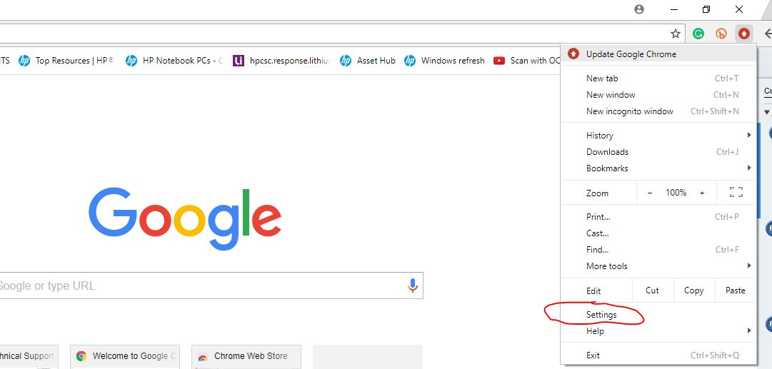 Microsoft Edge opens upon start up every time and Chrome is     - HP