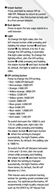 Lacking customizability / software for Omen 600 gaming mouse - HP
