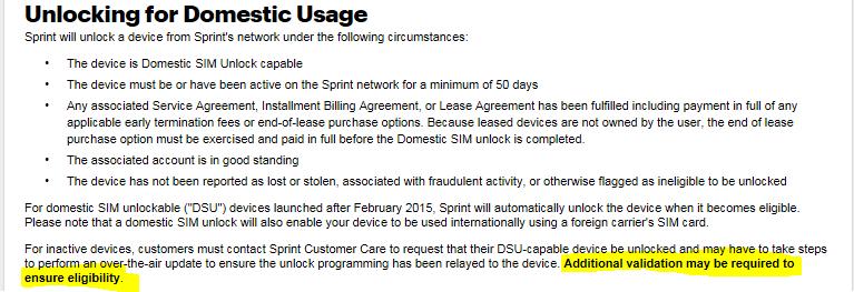 Unlock used iPhone 7 - Sprint Community