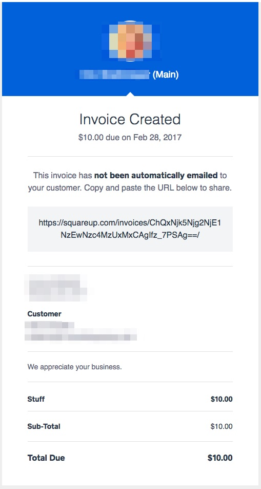 Solved Can You Email Only A Link To An Invoice The Seller Community - Square invoice fee